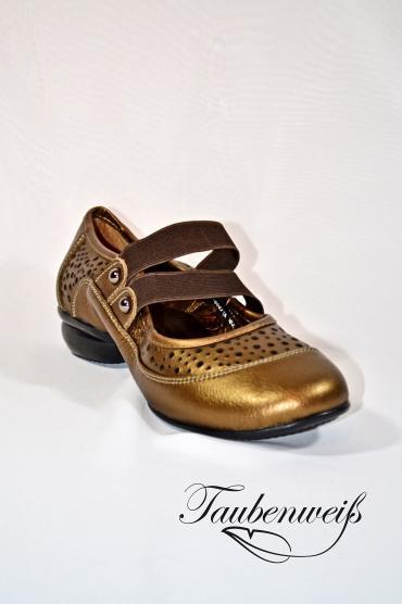 Dance Sneaker TW0009DS - Damen Dance Sneaker TW0009DS Echtleder flexible Sohle Silber atmungsaktiv 1