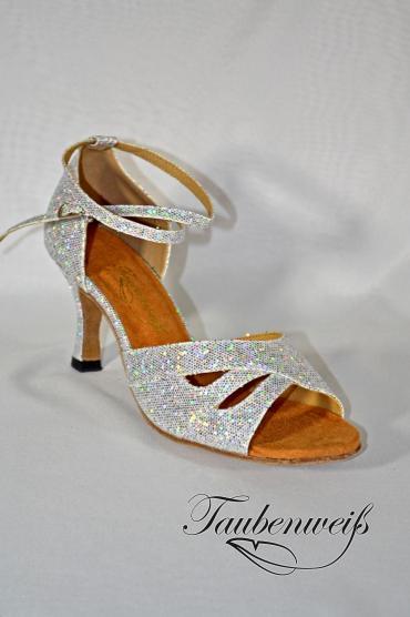 Lateinschuh TW0011LA - Lateinschuh TW0011LA Damen Latein Tanzschuh Salsa elegant sexy Glitter funkelnd 1
