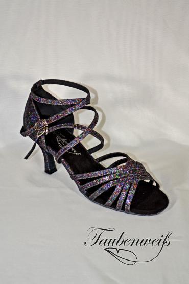 Lateinschuh TW0021LA - Lateinschuh TW0021LA Damen Latein Tanzschuh Sandalette multicolor Riemchen 1