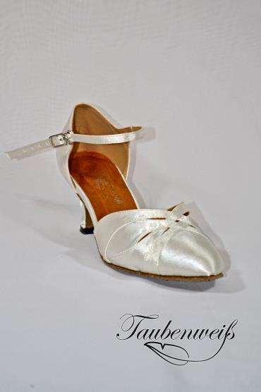 Lateinschuh TW0035LA - Lateinschuh TW0035LA Damen Latein Tanzschuh Pumps Tango weiß Fersenriemchen 1