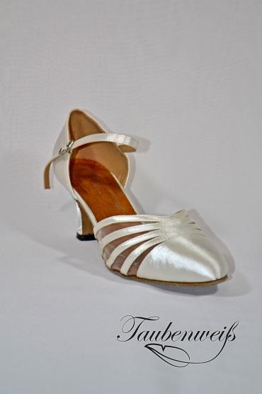 Lateinschuh TW0036LA - Lateinschuh TW0036LA Damen Latein Tanzschuh Pumps Tango weiß Fersenriemchen 1