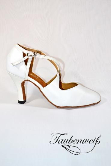 Tangoschuh TW0018TG - Tangoschuh TW0018TG Damen Echtleder Tanzschuh Pumps Tango Kreuzristriemchen weiß 1