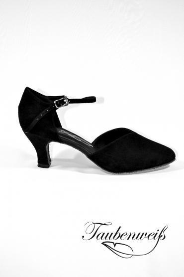 Lateinschuh TW0052LA - Damen Latein Tanzschuh Pumps Tango Echtleder Fersenriemchen 1