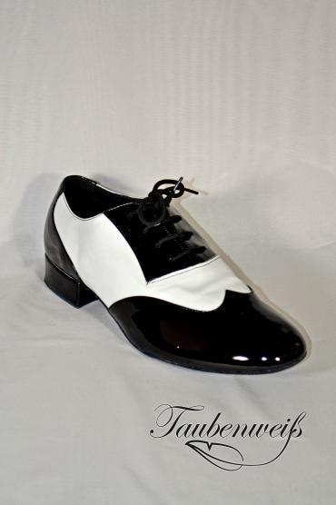 Standardschuh TW0003HS - Eleganter Herren Standard Tanzschuh TW0003HS in schwarz-weiß 1